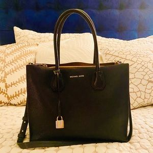 Michael Kors Mercer Pebbled Leather Accordion Tote